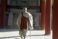 Arriving at the temple
